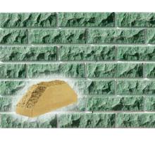 Облицовочный кирпич Фагот | Финская фактура | двух угловой | зеленый