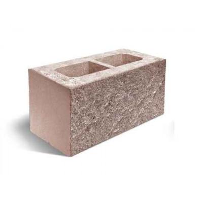 Колотый блок   Ковальская   односторонний скол   190х190х390