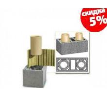 Керамический дымоход Schiedel UNI | Двухходовой| с вентиляцией | диаметр 14:14