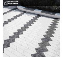 Тротуарная плитка | Золотой Мандарин | Шеврон полированный | Высота 60 мм