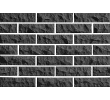Облицовочный кирпич Евроцегла   фактура скала   графитовый