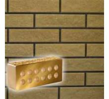 Облицовочный кирпич Литос | Стандартный пустотелый | Колотый с фаской | желтый