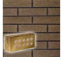 Облицовочный кирпич Литос | Стандартный пустотелый | Колотый тычкоый с фаской | шоколад