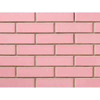 Облицовочный кирпич СБК глазурованный розовый