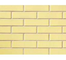 Облицовочный кирпич СБК глазурованный желтый