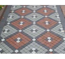 Тротуарная плитка | Золотой Мандарин | Шашка | Высота 60 мм