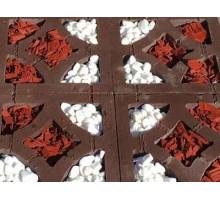 Тротуарная плитка | Золотой Мандарин | Решетка Гармония | Высота 90 мм