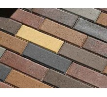 Тротуарная плитка | Золотой Мандарин | Узкий кирпич | Высота 60 мм
